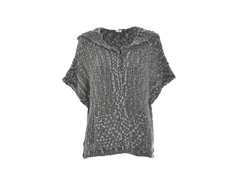 Deha Dámský kardigan Hoodie Sweater D63030 Dark Grey Mel.Lange