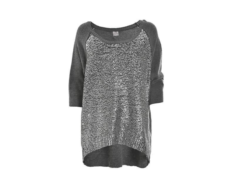 Deha Dámský svetr Boatneck Sweater D63150 Dark Grey Mel.Lange