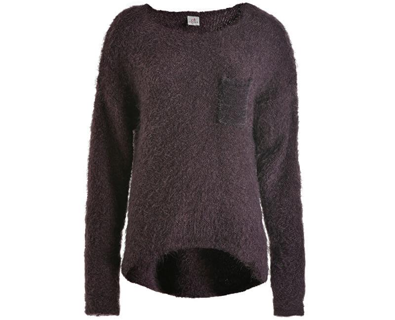 Deha Dámský svetr Crewneck Sweater B64160 Black Plum