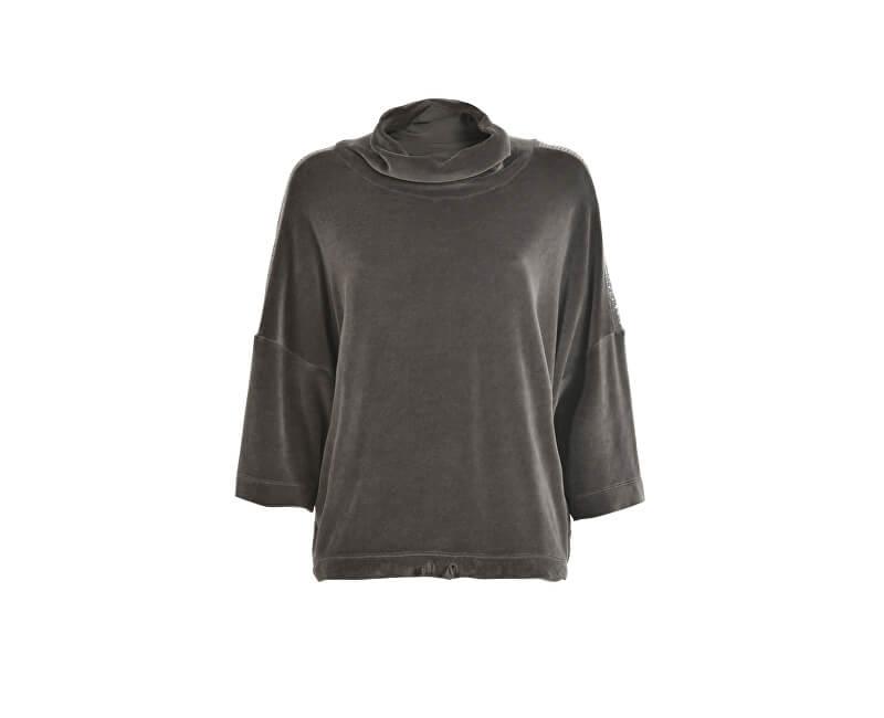 Deha Dámský svetr Velour Swing Sweatshirt B64512 Walnut Brown