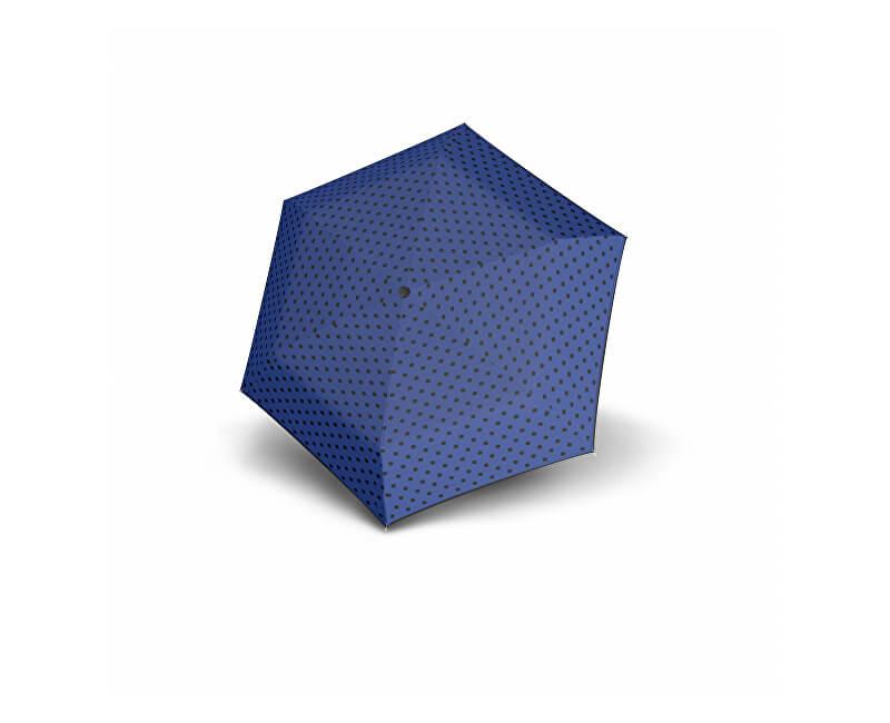 Doppler Doamnelor umbrelă mecanică Hit Micro Dots - albastru cu buline 710565PD03