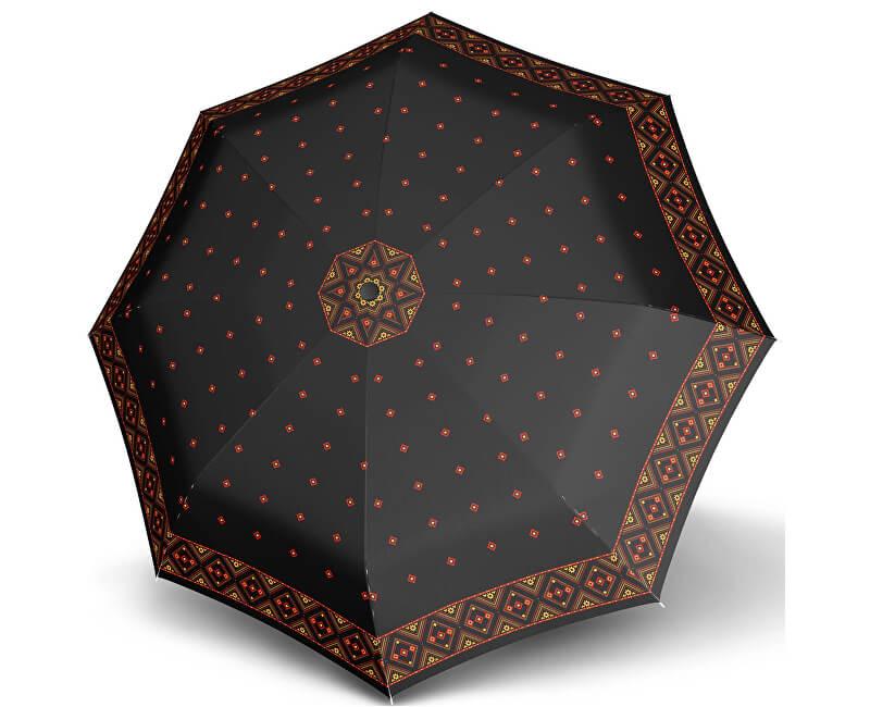 Doppler Dámský plně automatický deštník Carbon Magic mini big mascha černo-červený 74665GFGMA01