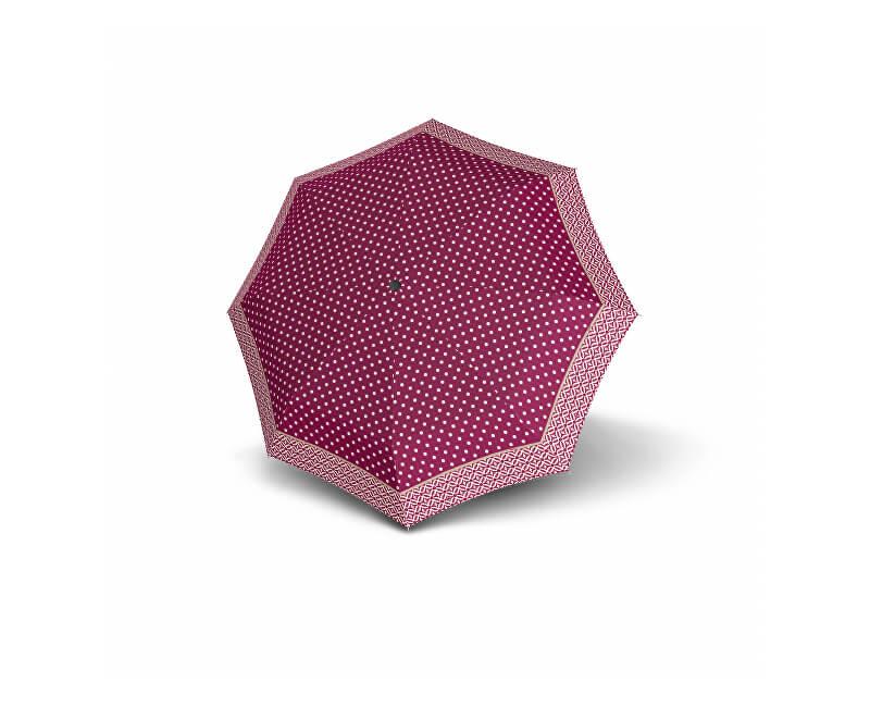 Doppler Dámský plně automatický deštník Magic Carbonsteel Nizza - purpurový s puntíky 744765NI01