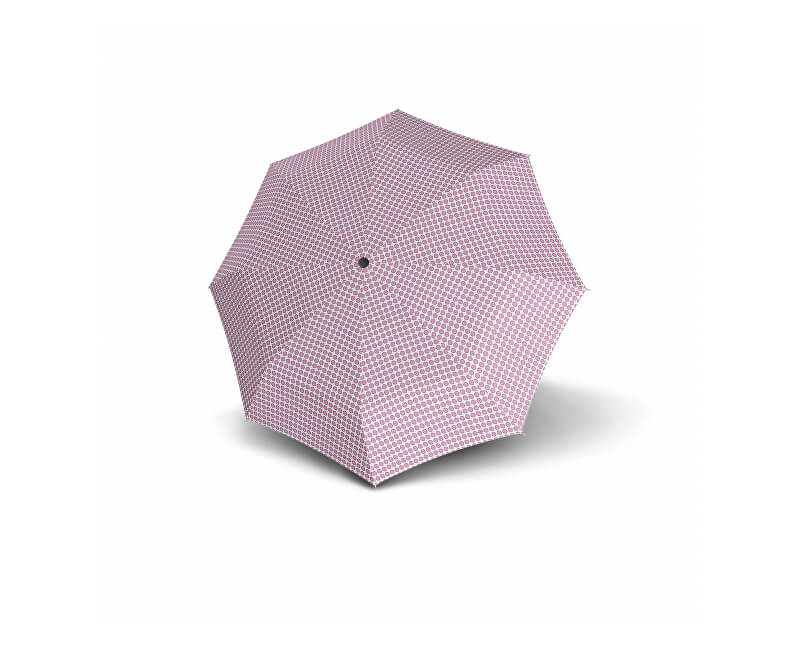 Doppler Umbrelă pliantă pentru femeiHavanna Palma - roz cu buline 722365PL01