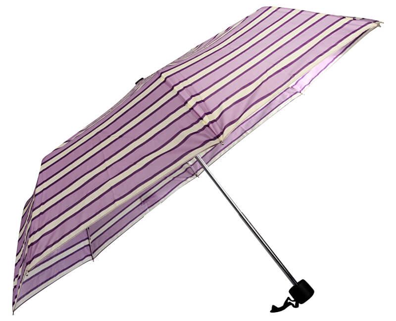 Doppler Dámský skládací mechanický deštník primo vzorovaný 700027505-fialový proužek