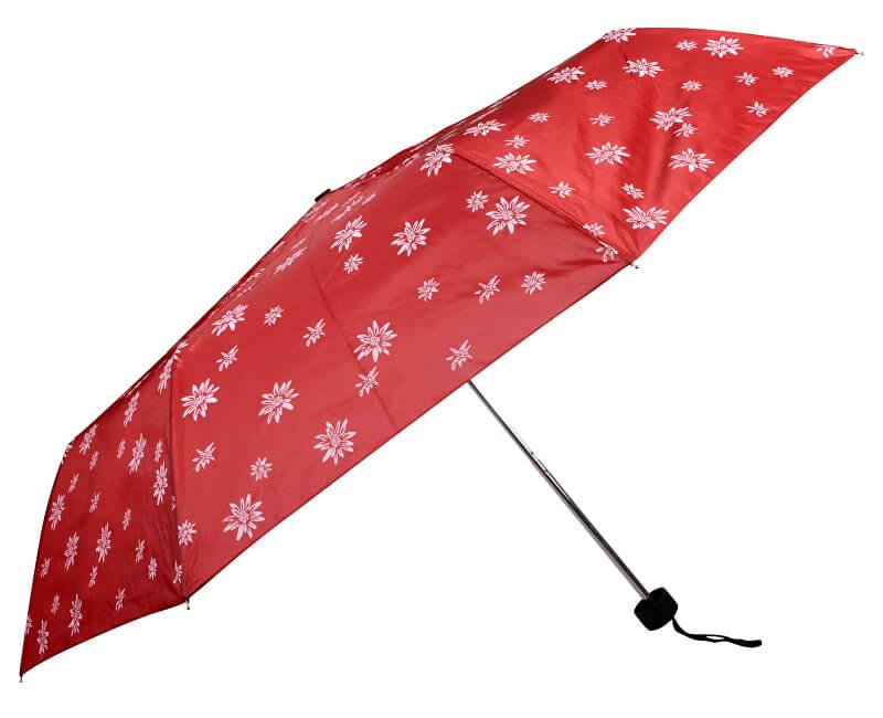 Doppler Dámský skládací mechanický deštník Special Mini Edelweiss červená 700065E01