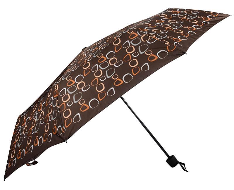 Doppler Skládací mechanický deštník Hit mini amalia hnědá 700265PMCZ02