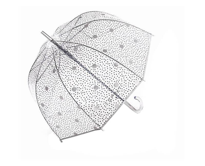 Esprit Dámský holový deštník Long AC Domeshape dots&dots