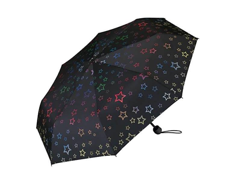 Esprit Dámský skládací mechanický deštník Super Mini Graphic Star