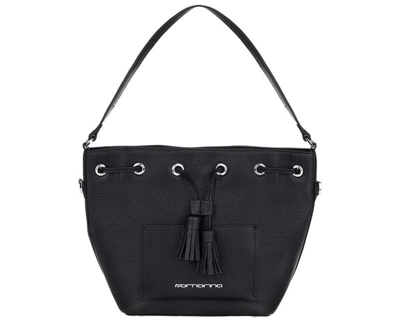 Fornarina Dámská kabelka Minnie - Black Nappa Bag AI18MN231F000