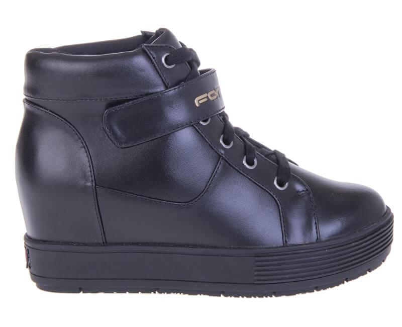 Fornarina Dámské kotníkové boty Meti - Black Action Leather/Nappa Pu Wo`s Ankle Boot PI18MJ1069V000