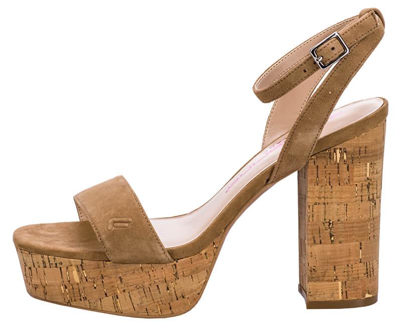 d9e9c8184324 Fornarina Dámske sandále Mina Dark Beige Výpredaj