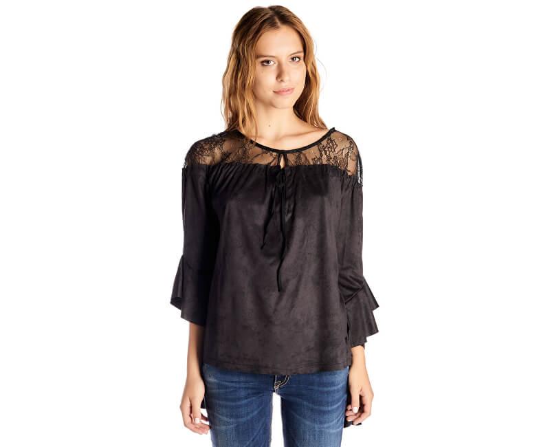 Fornarina Dámska blúzka Luna - Black T-shirt BI185L50JG1800