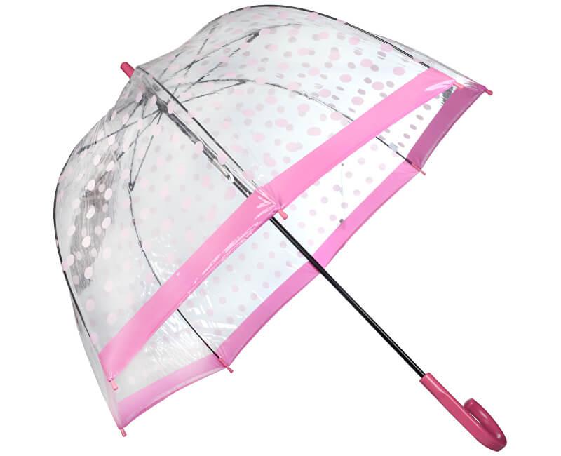 Fulton Dámský průhledný holový deštník Birdcage 2 RAINING BUTTERFLIES L042