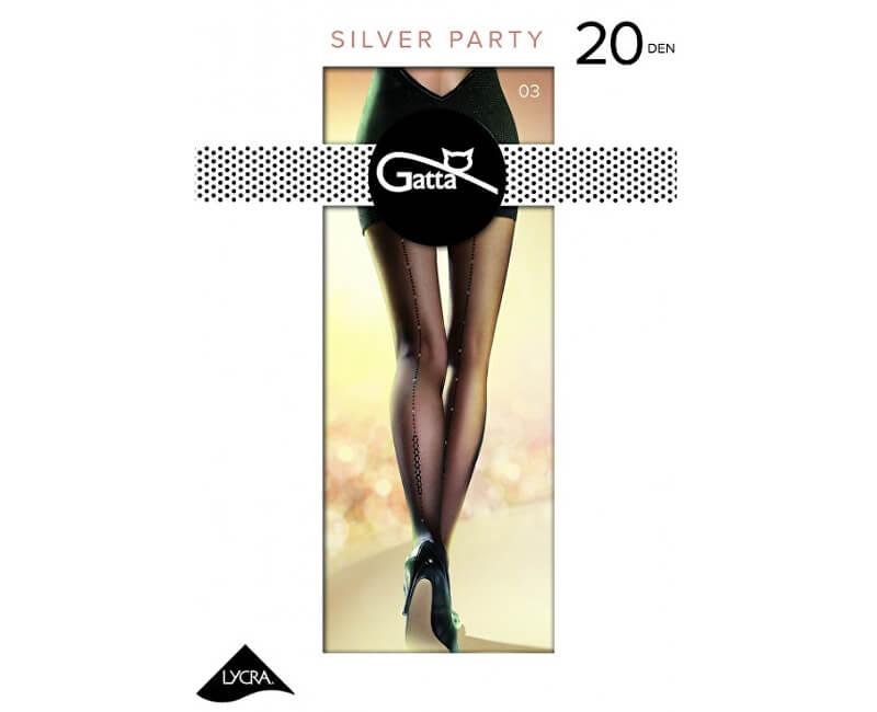 c1ba7b12417 Gatta Dámské punčochové kalhoty Silver party 03 Nero