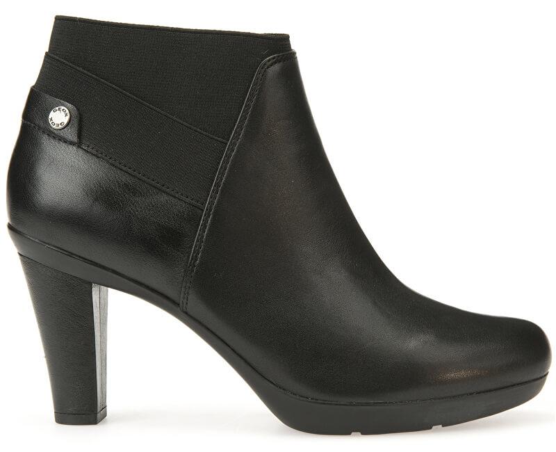 GEOX Dámské elegantní kotníkové boty Inspiration Stiv Black D64G9B-00085-C9999