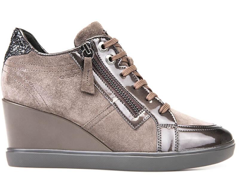 GEOX Dámské kotníkové boty Eleni Chestnut D7467C-022HI-C6004
