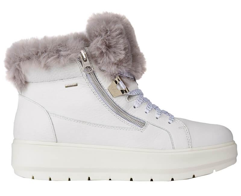 06e9caa3b5d1 Geox Dámske členkové topánky Kaul B Abx D White   Dk Grey D84AWD-046BH-
