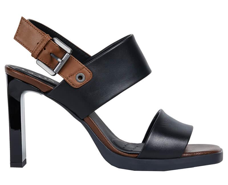 GEOX Dámské sandále Jenieve Black/Brown D92CDA-00043-C0111