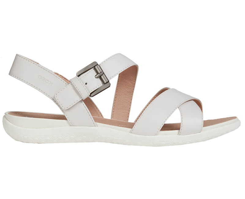 4c0072e5f63eb Geox Dámske sandále Sandal Vega E Off White D92R6E-00043-C1002 ...