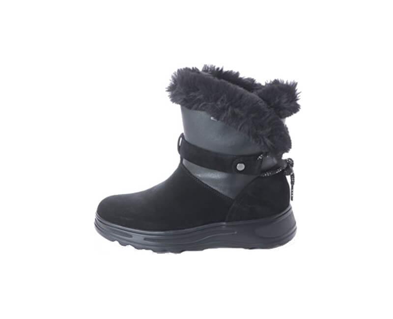 GEOX Dámské sněhule Hosmos B ABX C Black/Dk Grey D84AUC-0222N-C0005