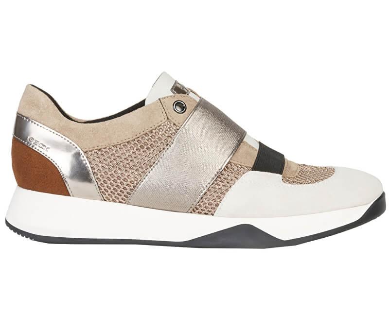 Geox Adidasi pentru femei D Suzzie Taupe/Lt Brown D94FRD-08823-C6535