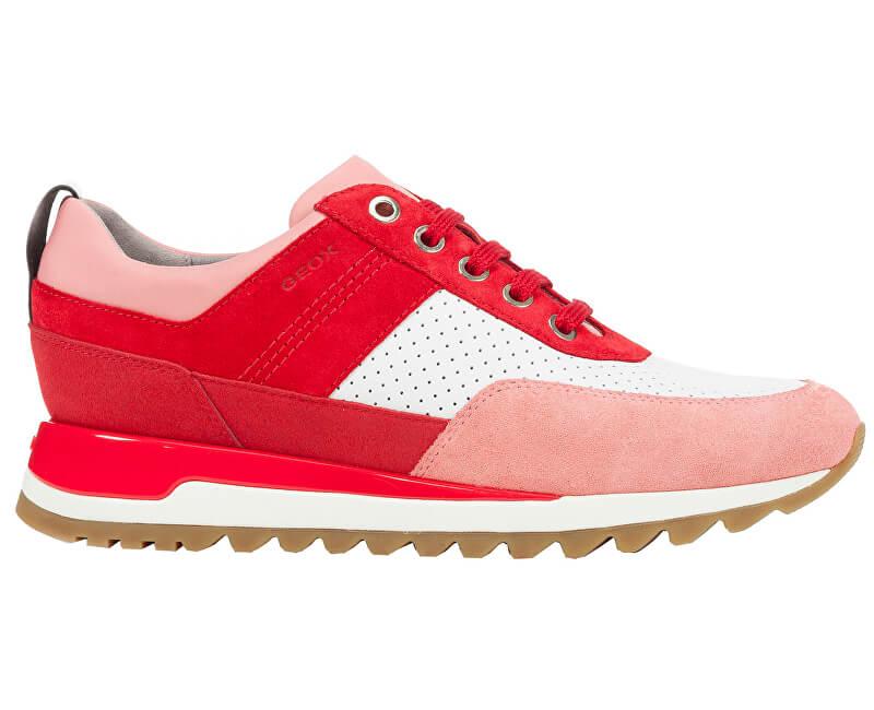 GEOX Női sportcipő Tabelya B Red White D84AQB-02285-C0003 Ingyenes ... 56f5f2fc3b