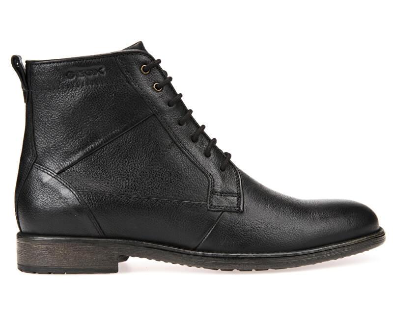 e2bbf9dc83 GEOX Pánske kožené topánky Jaylon Black U74Y7C-00046-C9999 ...
