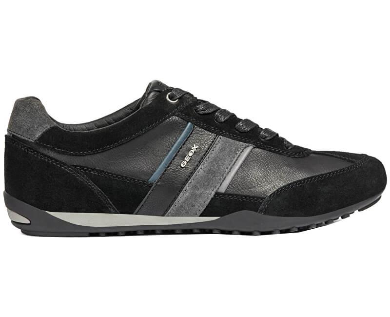 GEOX Pánské tenisky Wells C Black/Dk Jeans U52T5C-022ME-C9B4N