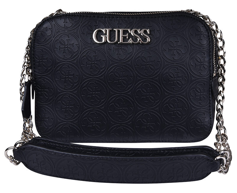 b0ac078c5 Guess Dámská crossbody kabelka Heritage Pop Convertible Camera Black ...