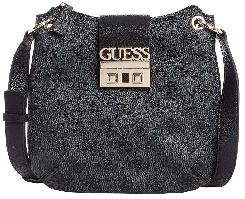 Guess Femeile de crossbody Handbag Women`s Logo Luxe Tourist femei Women`s Logo Luxe Tourist Coal