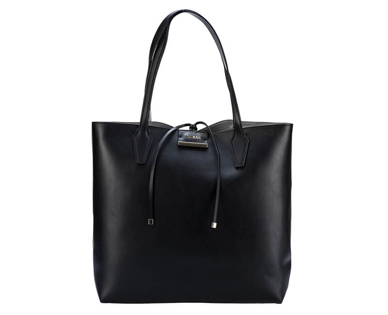 43a4faa4da Guess Dámska kabelka Guess Bobbi Oversized Reversible Shopper Tote Set Black