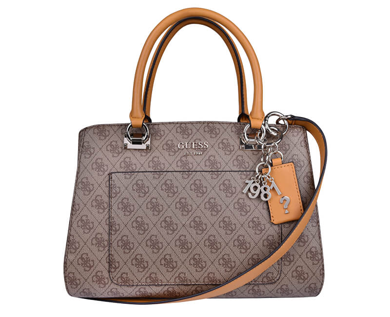 Guess Dámská kabelka Kathryn Girlfriend Satchel Brown