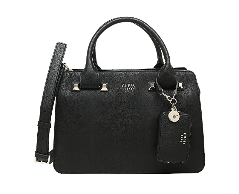 a2e5e8cd573 Guess Női táska Talan Girlfriend Satchel Black, Gold Ingyenes ...