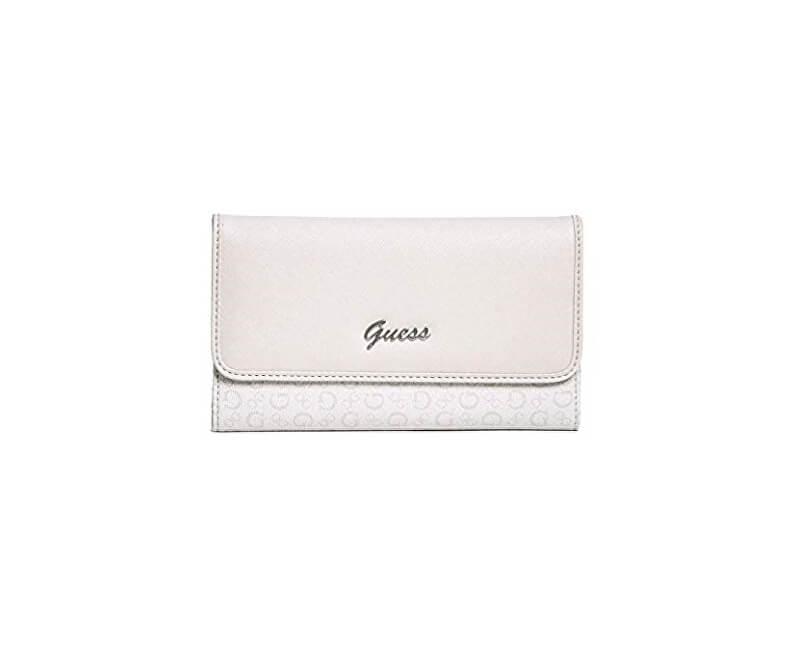 Guess Dámská peněženka Factory Women`s Desmond Slim Wallet Clutch Cement Multi