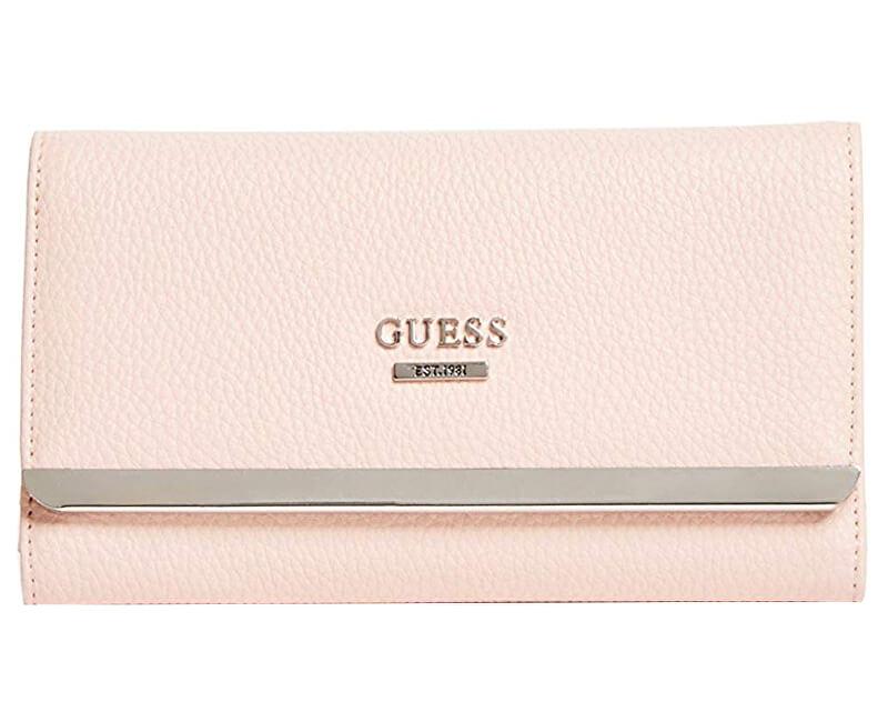 Guess Dámská peněženka Factory Women`s Largo Slim Wallet Blush