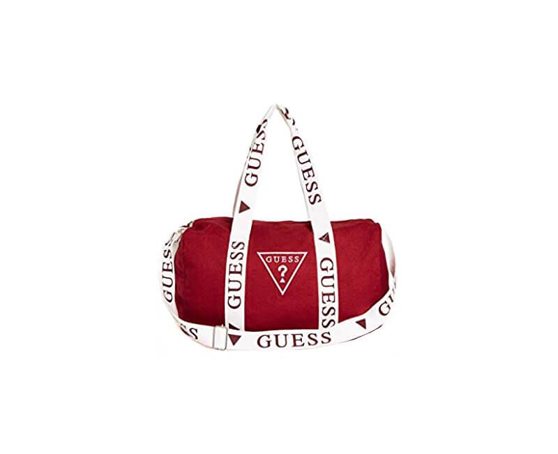 Guess Dámska športová taška Factory Women`s Logo Duffle Bag Red Novinka 2aefc65c7e3