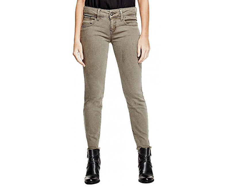 e557a1bf653b Guess Dámske nohavice Lillie Ankle Skinny Jeans Dry Moss Doprava ...