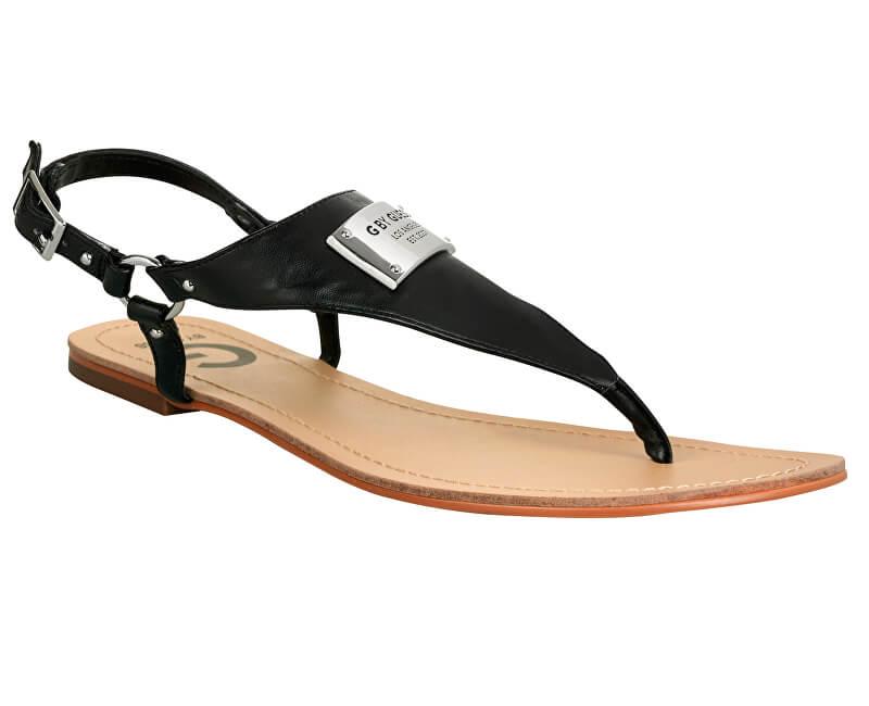 Guess Sandale pentru femei G de către Guess Karmin Faux-Leather Sandals  Black 9602aa2f21c