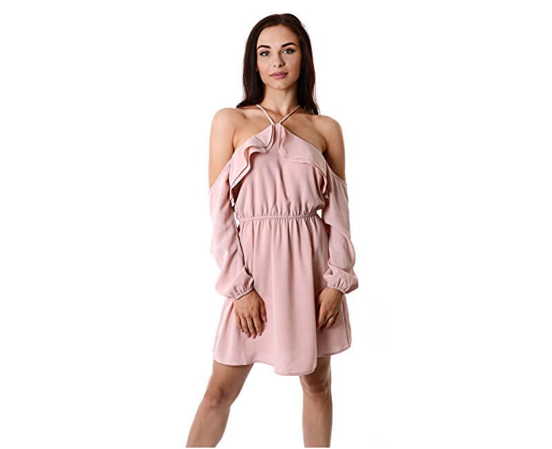 Guess Dámske šaty Violette Ruffle Dress Pink Doprava ZDARMA ... 5d413bed00