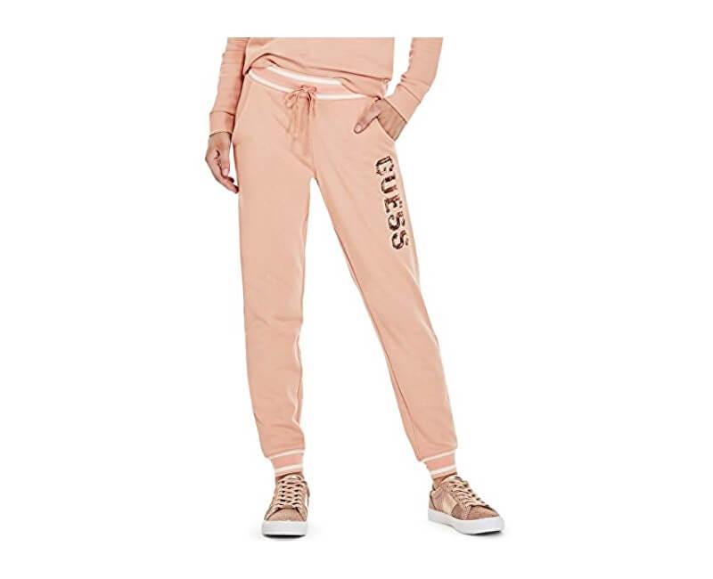 Guess Pantaloni pentru femei Factory Women`s Ozzy Sequin Logo Sweatshirt  Pink Ofertă fc7ee9e65b9