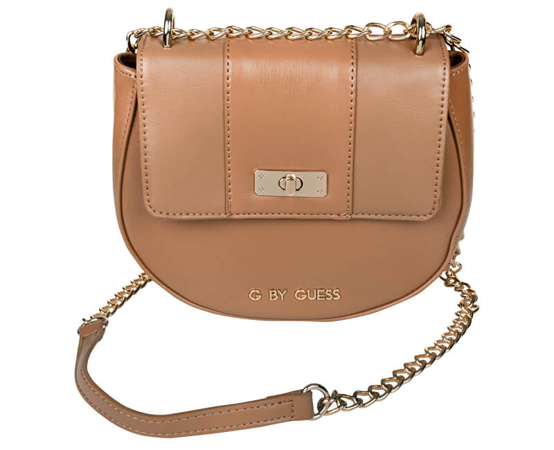 Guess Geantă elegantă crossbody Estella Saddle Crossbody Brown