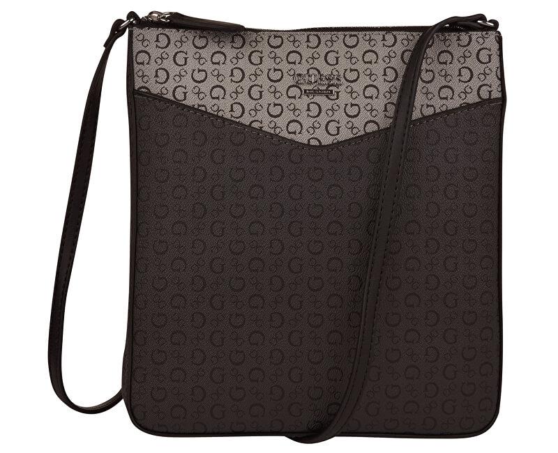 Guess SLEVA - Elegantní dámská kabelka Birch Logo Print Crossbody Black Multi