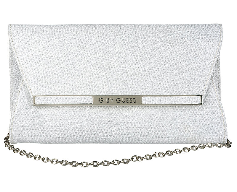 Guess Poșetă elegantă G by GUESS Women`s Heidi Silver Clutch
