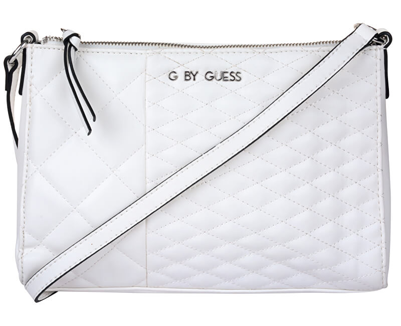 Guess Elegantní kabelka Women`s Blondin Top Zip Crossbody White