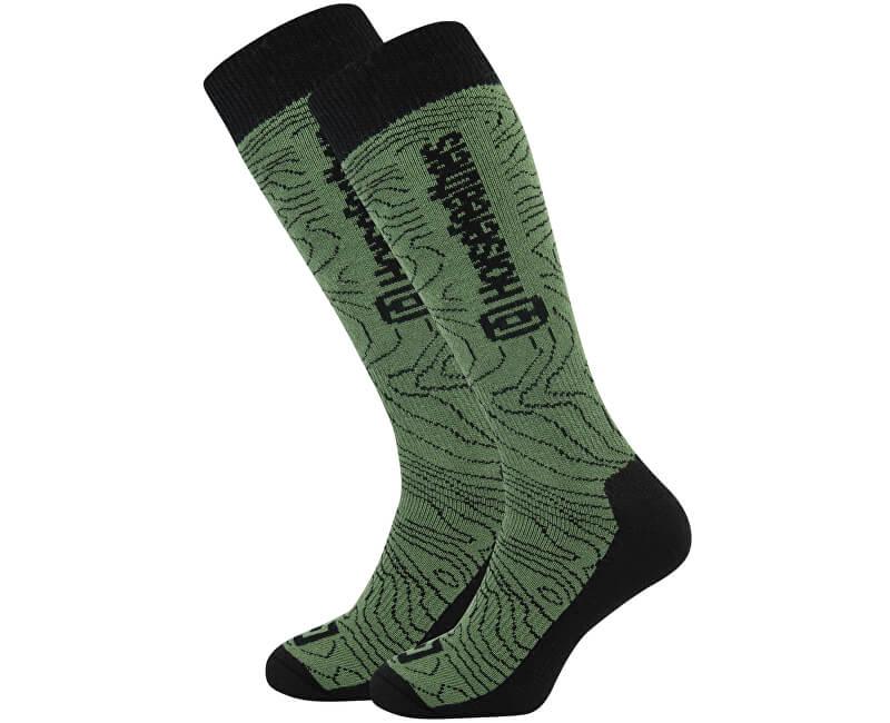 Horsefeathers Pánské ponožky Ayden Thermolite Olive Contour AA1011A