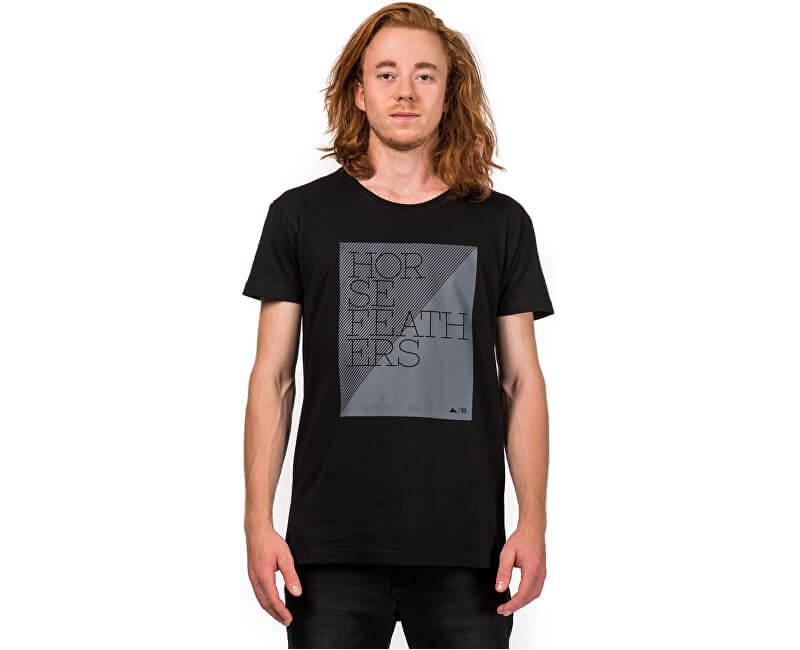 b183b66f3df3 Horsefeathers Pánske tričko Taper Black SM957A ...