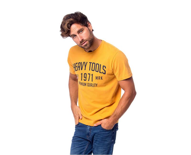 d6c07343f19c Heavy Tools Pánske tričko Mad W18-131 Sunshine - ZĽAVA až 0