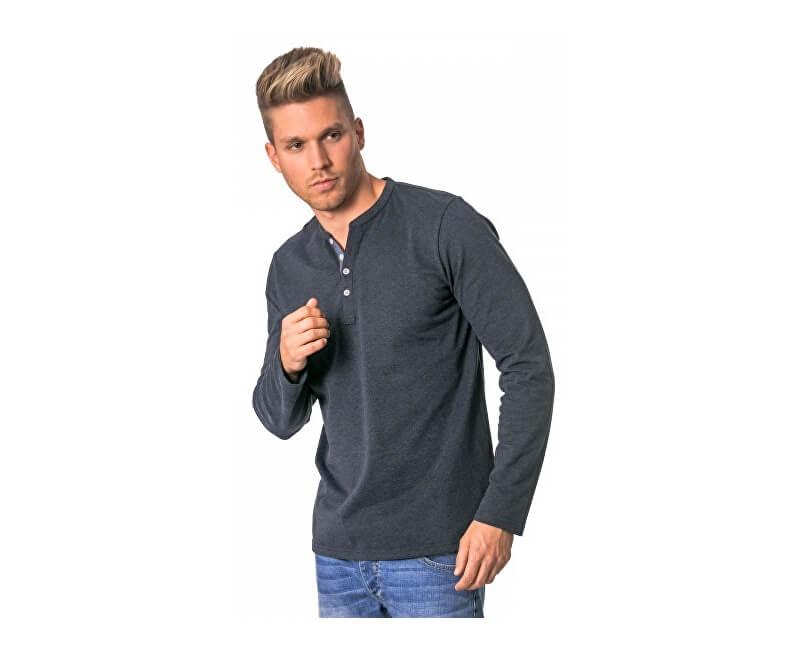 Heavy Tools Pánské triko s dlouhým rukávem Civil W17-119 Jeans