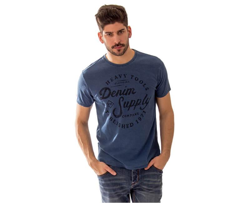Heavy Tools Pentru bărbați T-Shirt Moral S17-203 Denim